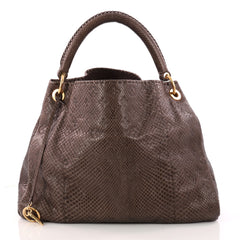 Louis Vuitton Artsy Handbag Monogram Embossed Python MM 3243001