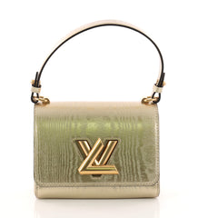 Louis Vuitton Twist Handbag Gravity Gold Calfskin PM 3245101