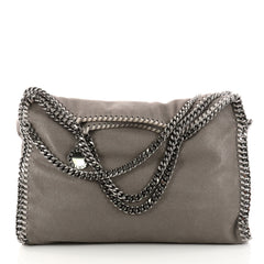 Stella McCartney Falabella Fold Over Bag Shaggy Deer Gray 3245501