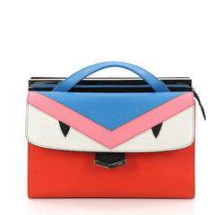 Fendi Demi Jour Monster Satchel Leather Blue 3245701