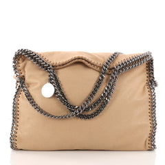 Stella McCartney Falabella Fold Over Bag Shaggy Deer Brown 3246101