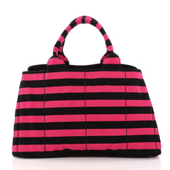 Prada Canapa Tote Printed Canvas Large Pink 3246502