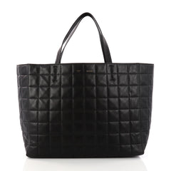 893079c270b Celine Horizontal Cabas Tote Quilted Leather Large Black 3248002