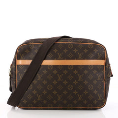Louis Vuitton Reporter Bag Monogram Canvas GM Brown 3248102