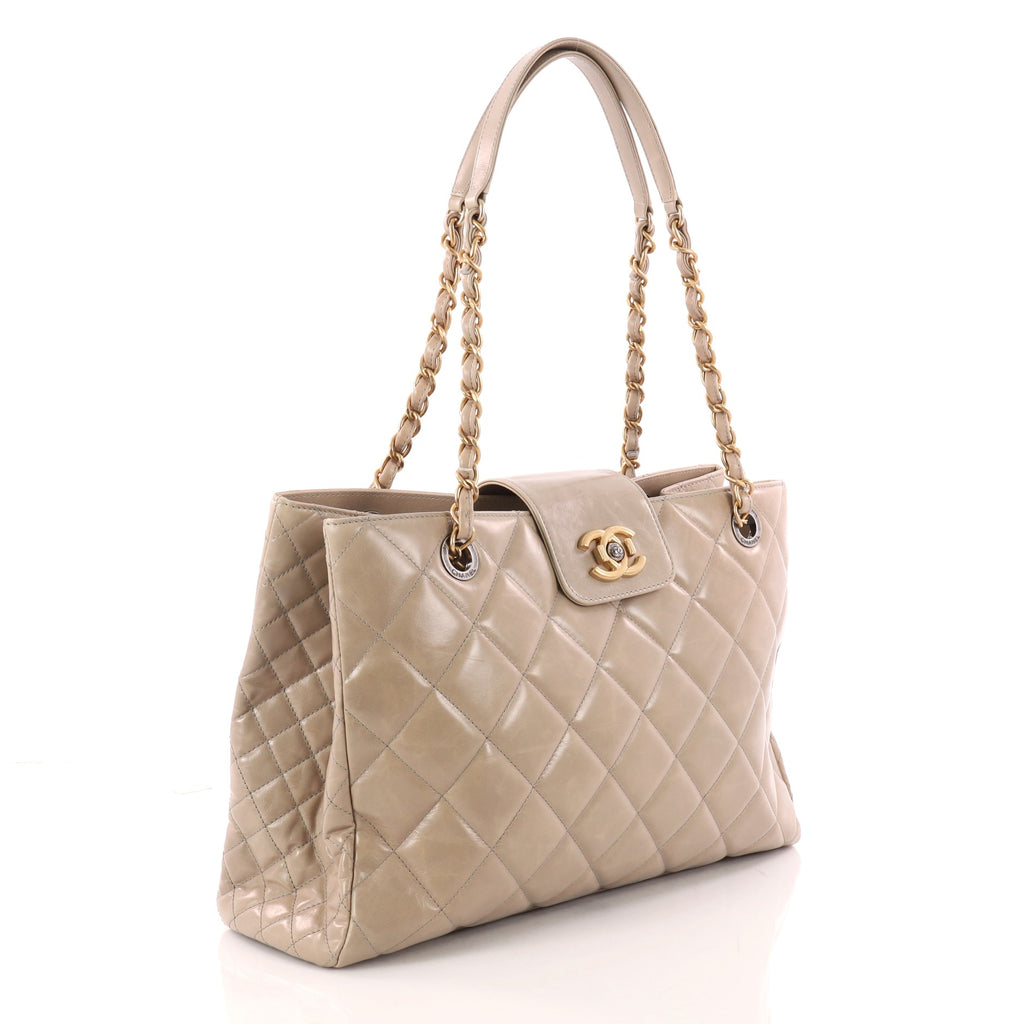 ad4c807e047b Buy Chanel Daily Walk Shopping Tote Quilted Glazed Calfskin 3256004 ...