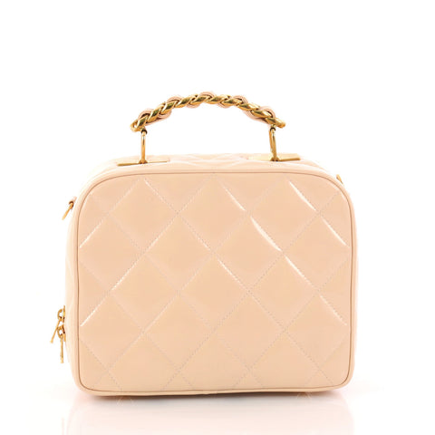 3169d3edba66 Buy Chanel Vintage Chain Lunch Box Bag Quilted Patent Small 3256301 – Rebag
