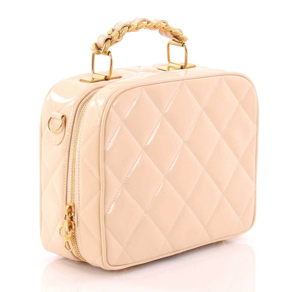 746a58ab452c Buy Chanel Vintage Chain Lunch Box Bag Quilted Patent Small 3256301 ...