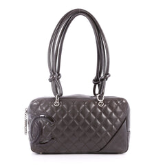 Chanel Cambon Bowler Bag Quilted Leather Medium Brown 3259101