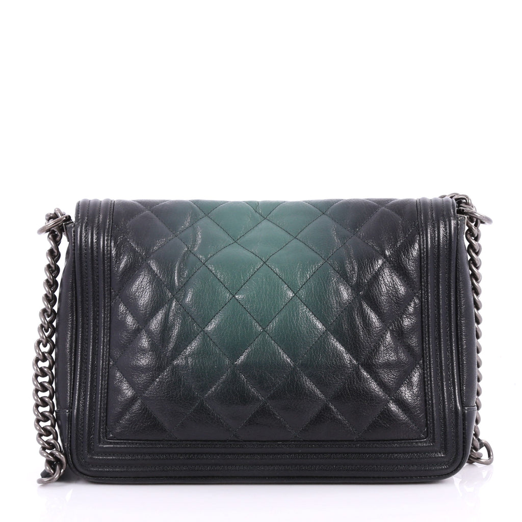 5d4f2127e84ead Buy Chanel Boy Flap Bag Quilted Ombre Goatskin Large Black 3262709 ...