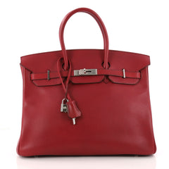 Hermes Birkin Handbag Red Buffalo Skipper with Palladium 3264603