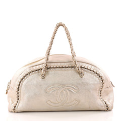 Chanel Luxe Ligne Bowler Bag Leather Large Gold 3265101