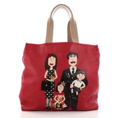 Dolce & Gabbana Open Tote Patchwork Leather Large Red 3267101