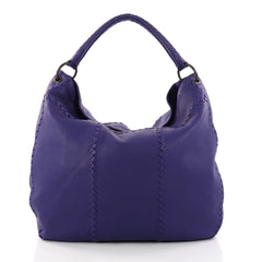 Bottega Veneta Hobo with Rings Leather with Intrecciato Purple 3267202