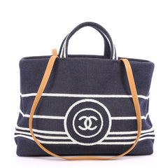 Chanel CC Shopping Tote Denim Large Blue 3267501