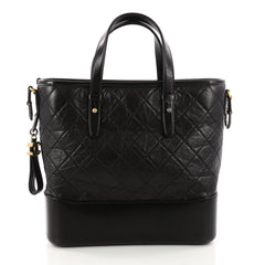 Chanel Gabrielle Shopping Tote Quilted Calfskin Medium Black 3268101