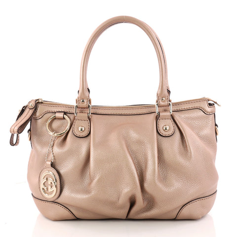 063be7a4176b Gucci Sukey Top Handle Tote Guccissima Leather Medium Pink 3269005 – Rebag