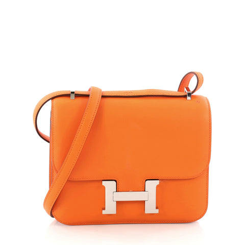 aaa94c9e2dd5 Buy Hermes Constance Handbag Swift 18 Orange 3269101 – Rebag