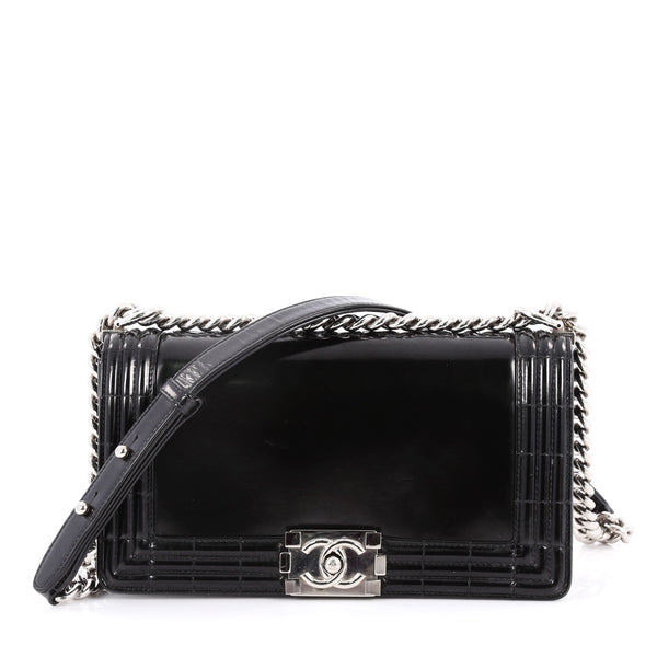 e43145f63cdc Buy Chanel Reverso Boy Flap Bag Glazed Iridescent Calfskin 3273802 – Rebag