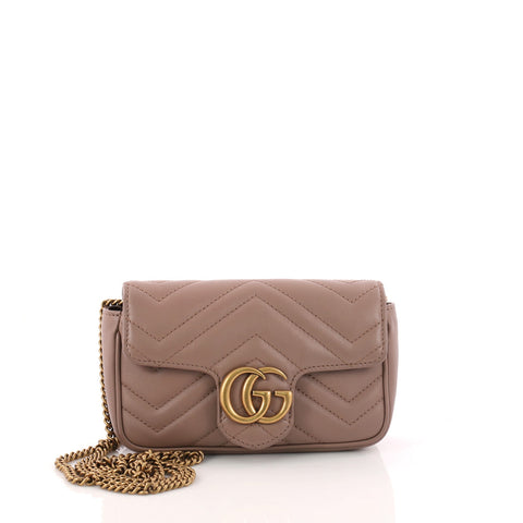 7d57091ac188 Buy Gucci GG Marmont Flap Bag Matelasse Leather Super Mini 3275101 – Rebag