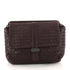 Bottega Veneta Dual Side Flap Shoulder Bag Intrecciato 3275901