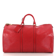 Louis Vuitton Keepall Bag Epi Leather 55 Red 3276204