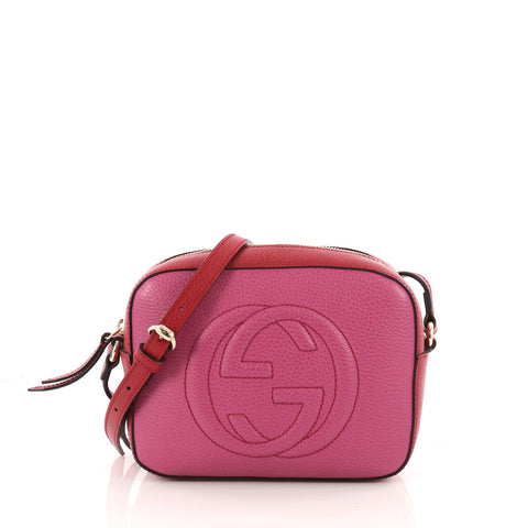 c45aa08eeeae4d Buy Gucci Soho Disco Crossbody Bag Leather Small Pink 3276501 – Rebag