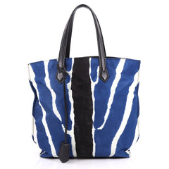 Fendi All In Tote Printed Nylon Medium Blue 3277502