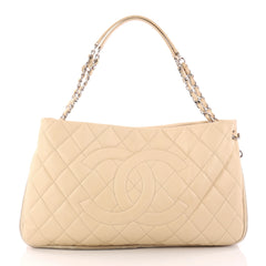 Chanel Timeless CC Expandable Tote Quilted Caviar Medium Neutral 3279002