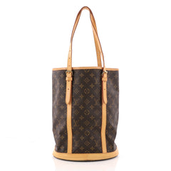 Louis Vuitton Bucket Bag Monogram Canvas GM Brown 3279103