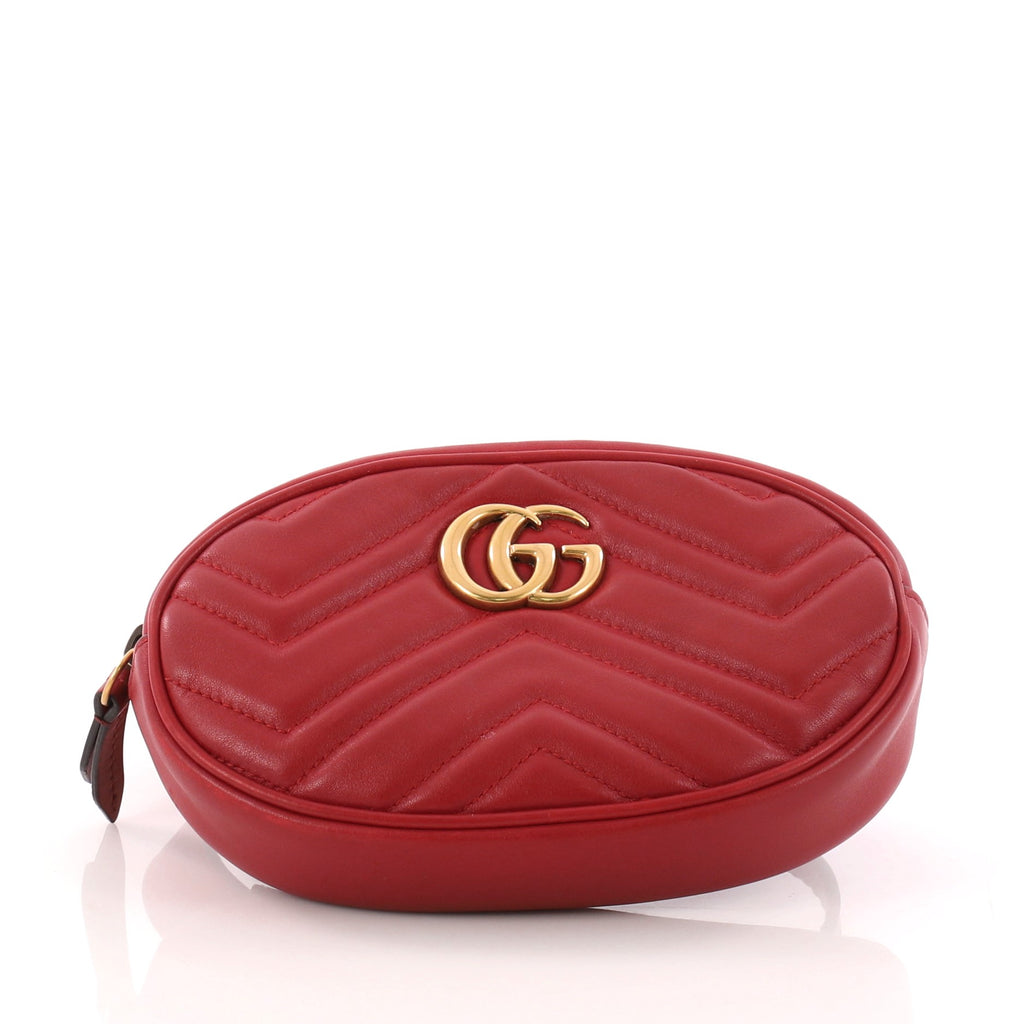 781ee8f45a76 Buy Gucci GG Marmont Belt Bag Matelasse Leather Red 3279801 – Rebag