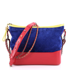 Chanel Gabrielle Hobo Quilted Suede Medium Blue 3281301