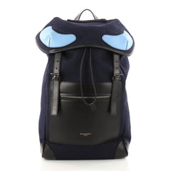 Givenchy Rider Backpack Canvas with Leather Blue 3281701