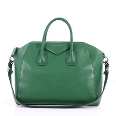 Givenchy Antigona Bag Leather Medium Green 3282001