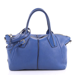 Tod's D-Styling Satchel Leather Blue 3282003