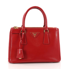 Prada Double Zip Lux Tote Vernice Saffiano Leather Small 3282301