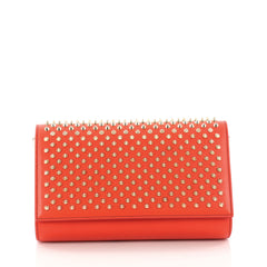 Christian Louboutin Paloma Clutch Spiked Leather Red 3282302