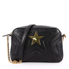 Stella McCartney Stella Star Crossbody Bag Quilted Faux Black 3283301