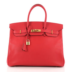 Hermes Birkin Handbag Red Epsom with Gold Hardware 35 3284202