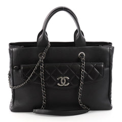 Chanel Coco Break Shopping Tote Caviar Large Black 3285101