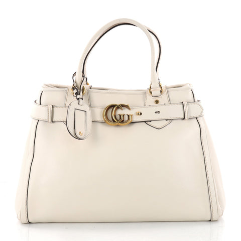 e57c9161060 Buy Gucci GG Running Tote Leather Large Neutral 3285701 – Rebag