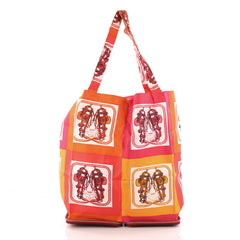 Hermes Silky Pop Tote Printed Silk Red 3289002