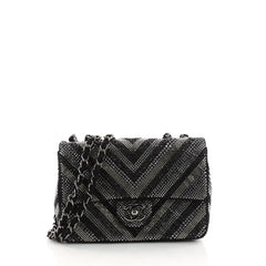 Chanel CC Flap Bag Strass Embellished Leather Small Black 3290001