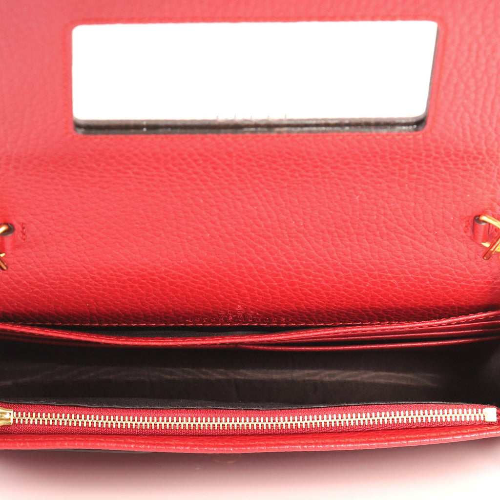 46f85209361 Buy Gucci Petite Marmont Chain Wallet Leather Mini Red 3290301 – Rebag