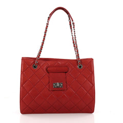 Chanel Paris-Byzance Take Away Tote Quilted Aged Calfskin Medium Red 3292002