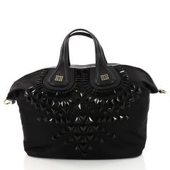 Givenchy Nightingale Satchel Studded Nylon Medium Black 3293201