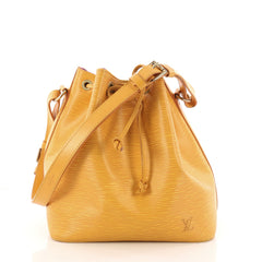 Louis Vuitton Petit Noe Handbag Epi Leather Yellow 3295901