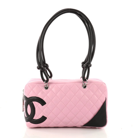d23e0a0eb4 Buy Chanel Cambon Bowler Bag Quilted Leather Medium Pink 3298601 – Rebag