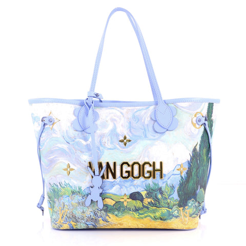 8612cbc0ed43 Louis Vuitton. Neverfull NM Tote Limited Edition Jeff Koons Van Gogh Print  Canvas MM