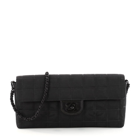 8be21a29f21d Buy Chanel Travel Line Flap Bag Quilted Nylon East West 3306102 – Rebag