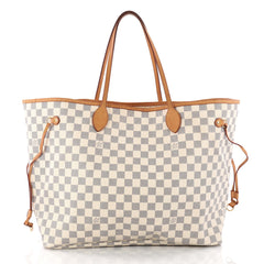 Louis Vuitton Neverfull Tote Damier GM White 3306501